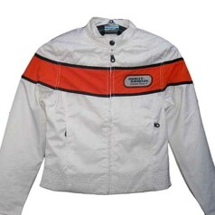 CHAQUETA HARLEY DAVIDSON LADY WHITE/ORANGE NYLON